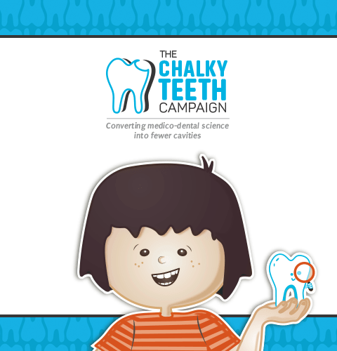 The Chalky Teeth Campaign - Converting medico-dental science into fewer cavities - Main Banner Image